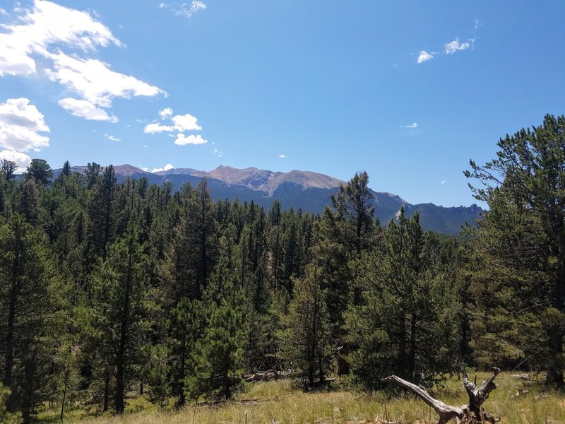 Looking to the south at the Pikes Peak.