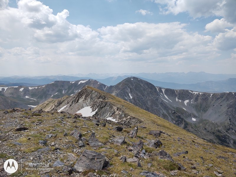 From the top of Byers Peak.