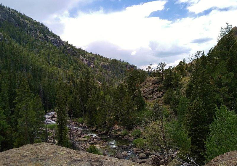Boulder Creek in its canyon below Boulder Canyon Trail.