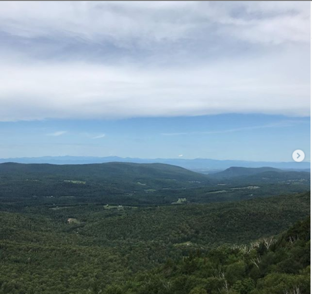 View west across the Champlain Valley towards the Adirondacks.