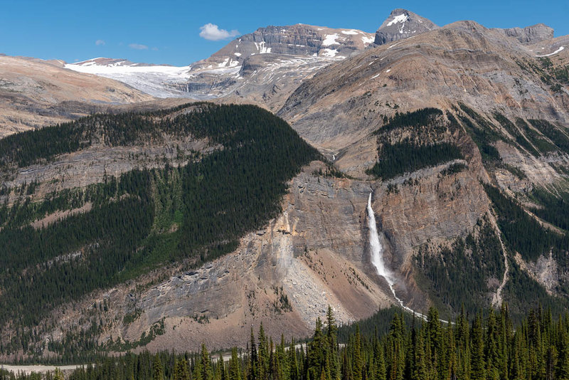 Takkakaw Falls across the valley from the Iceline.