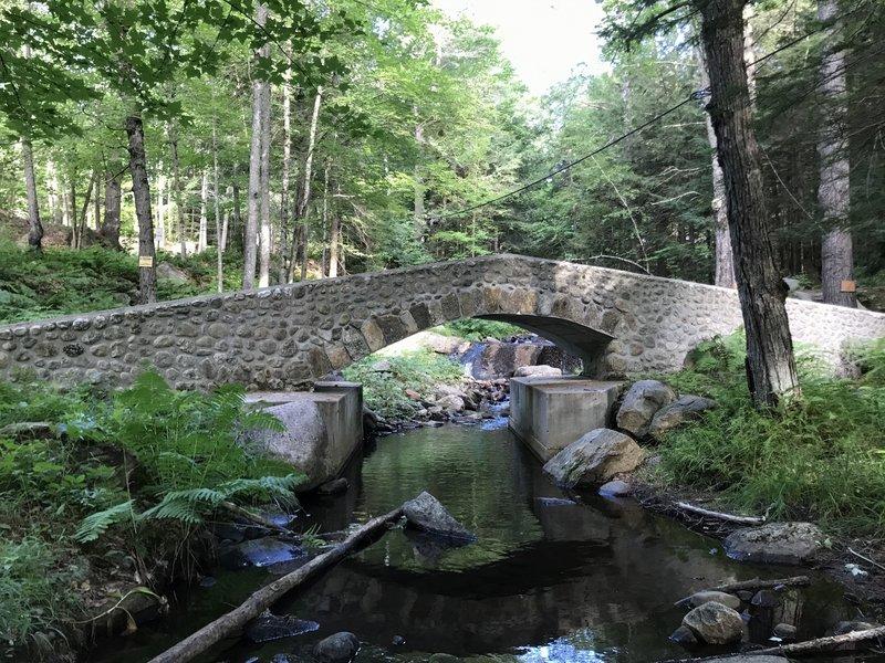 Stone Bridge at the base of Kidder Brook Trail.