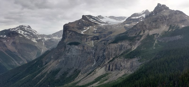 Views from Burgess Pass can be very good, even on a cloudy rain day.