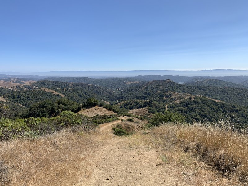 View from half way up the steep section of the Rocky Ridge Loop Trail.