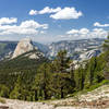 Half Dome and Yosemite Valley from the ascent to Clouds Rest