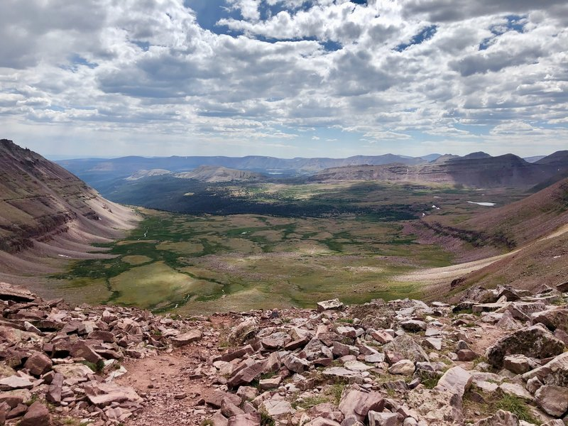 West side from Anderson Pass