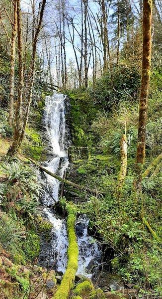 Bridge Creek Falls waterfall in early spring.