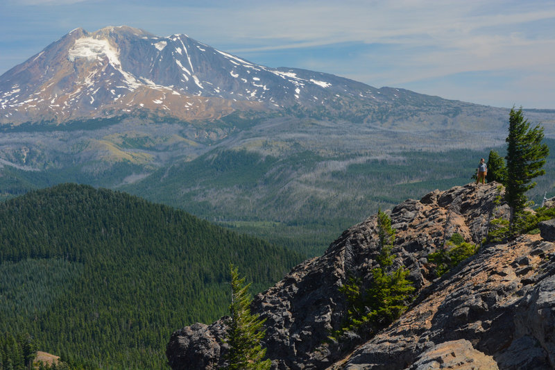 Mt Adams is only 11 miles from Sleeping Beauty.