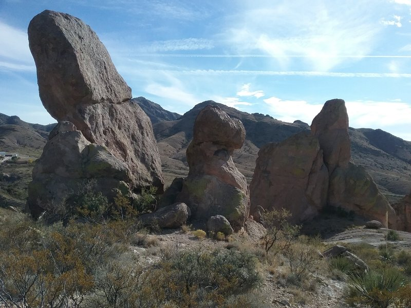 View of some of the La Cueva Rocks.
