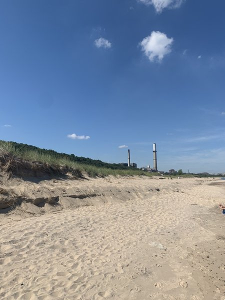 Beach view to the west.