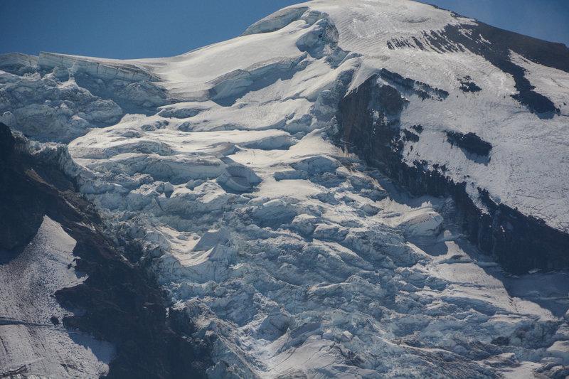 Adams Glacier on the north face of Mt. Adams.