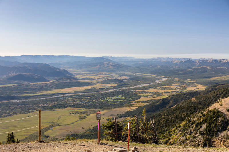 Jackson Hole and Snake River from Rendezvous Mountain.