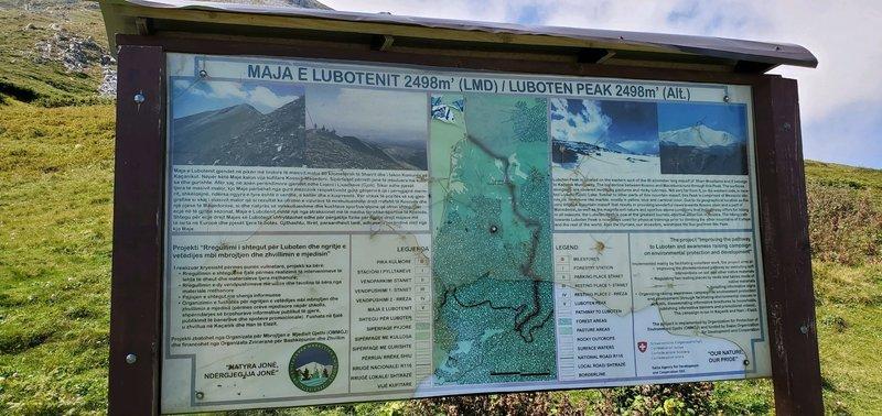 Ljuboten Peak trailhead Kosovo.