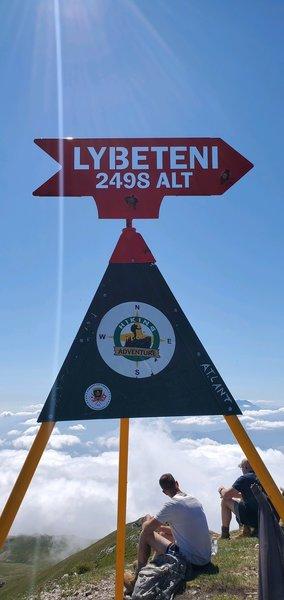On the summit of Ljuboten Kosovo.