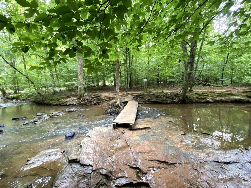 Creek crossing to neighborhood trails.
