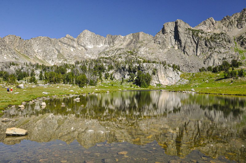 Beautiful, clear day to visit Beehive Basin and not a bear in sight!