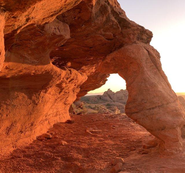 Sunrise on Church Rocks Trail