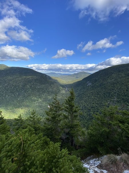 The view from one mile on eyebrow trail