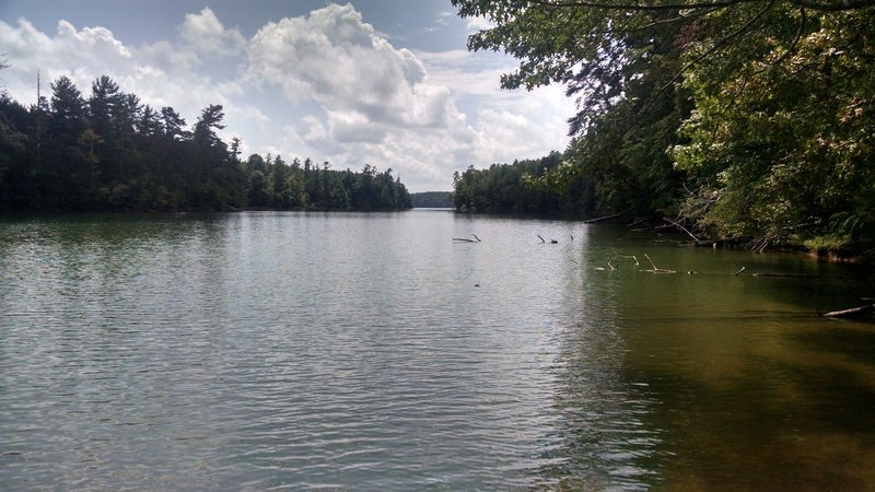 View up one of the coves towards the main part of Lake James