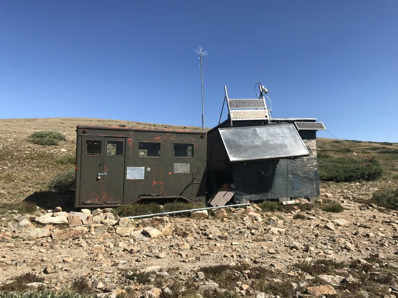 Another makeshift CU observation hut; this one is called T-van.