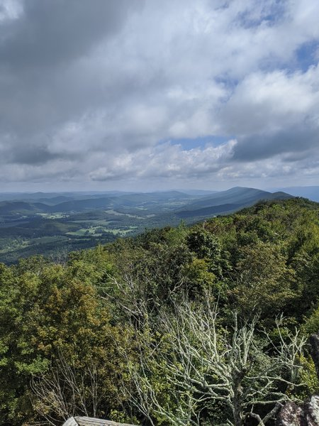 View from Hanging Rock Raptor Observatory.