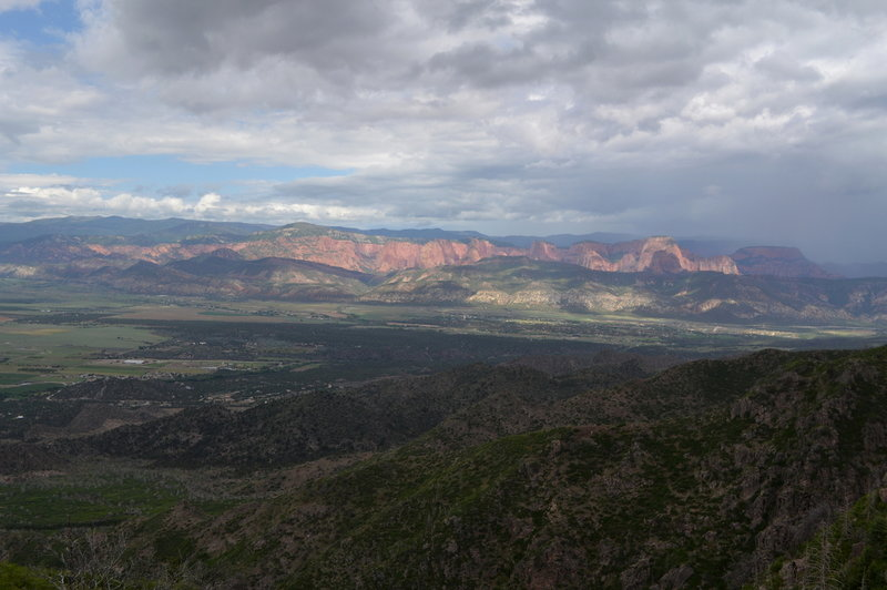 Kolob Canyons on the other side of I-15.
