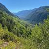 Gore Creek valley stretching off far below.