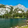 Honeymoon Lake and Peak 12,245 feet.