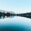 Sun rising on Lake Rodgers
