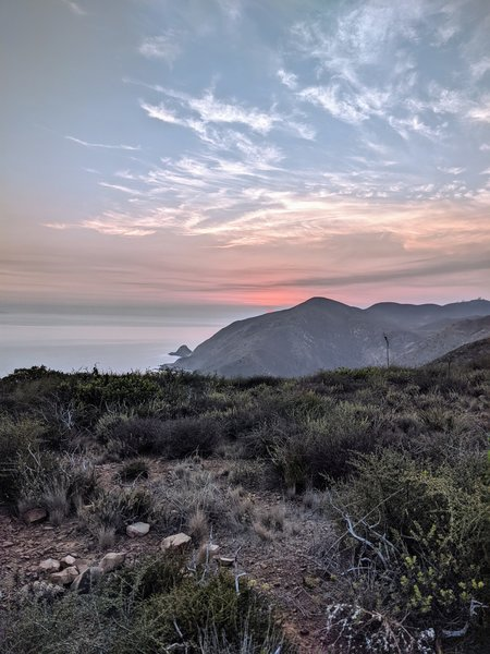 Great view of Point Mugu point and Mugu Peak.