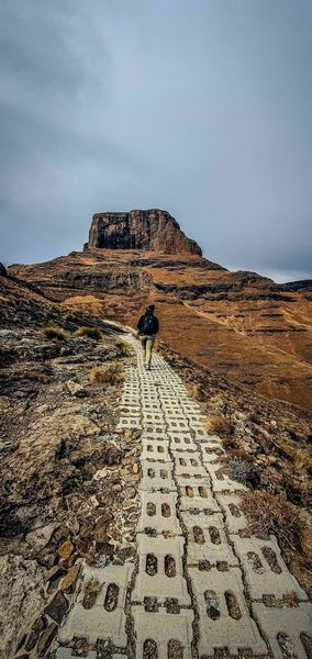 Walking towards Sentinel Peak.