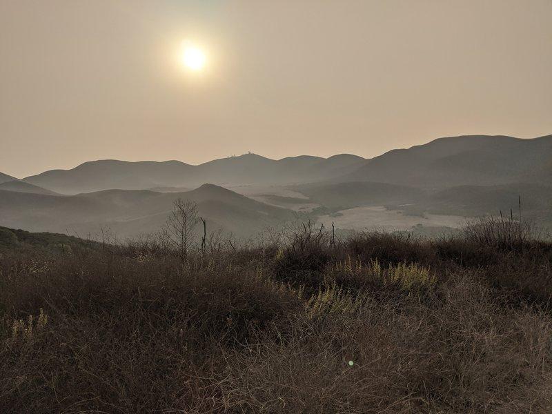 La Jolla Valley at dusk.
