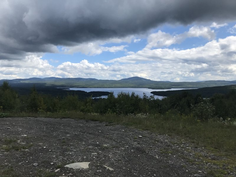 A view over the First Connecticut Lake to Magalloway Mountain.