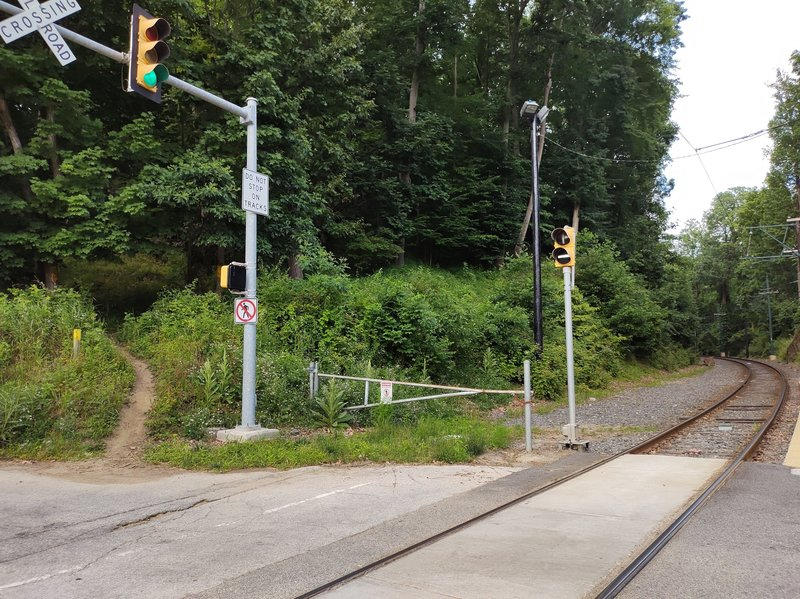 Trail end near papermill road trolley station.