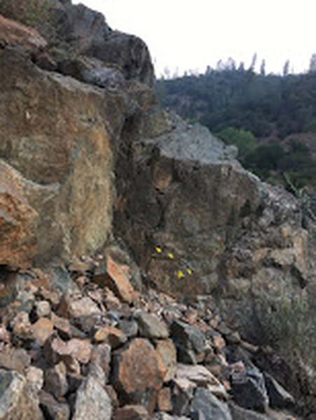 Awesome rock formations along the American River