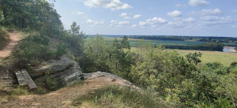 View south of from bluff of Cuivre River Valley.