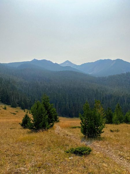 Hyalite Peak on a smoky day.