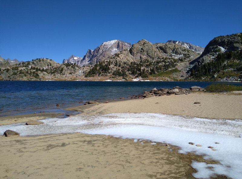 One of the sandy Island Lake beaches.