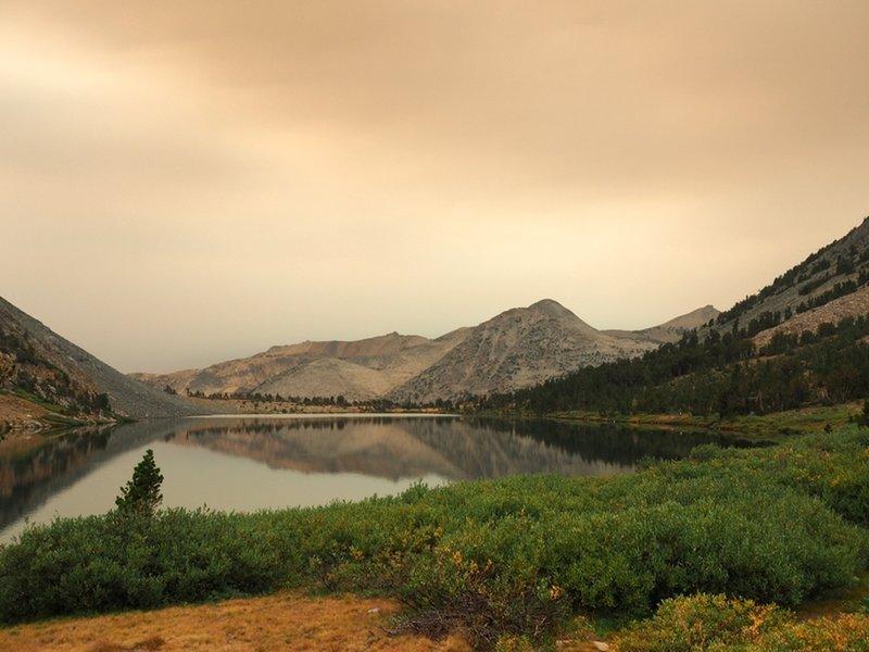 A smoky day at Summit Lake