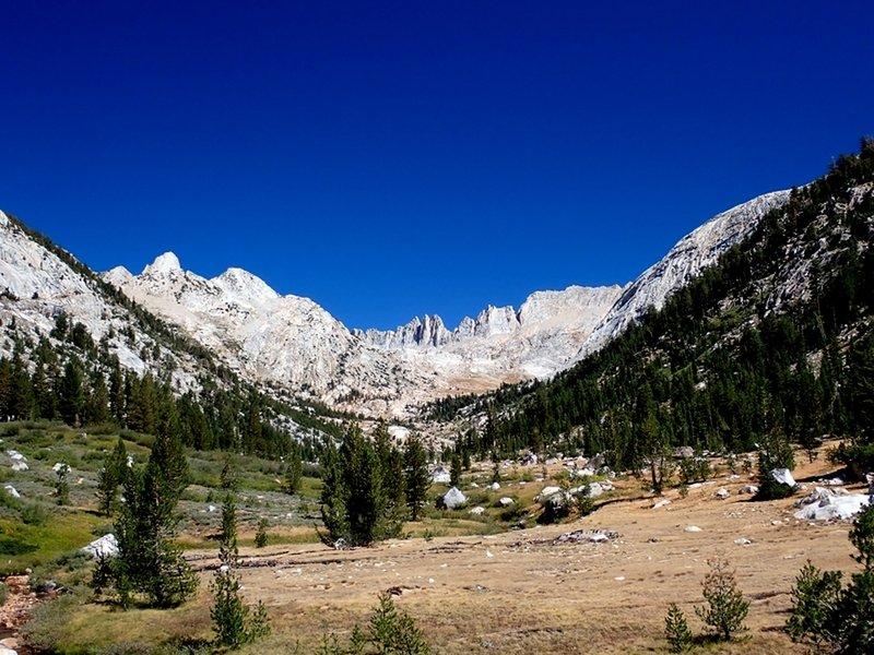 Sawtooth Ridge comes into view.