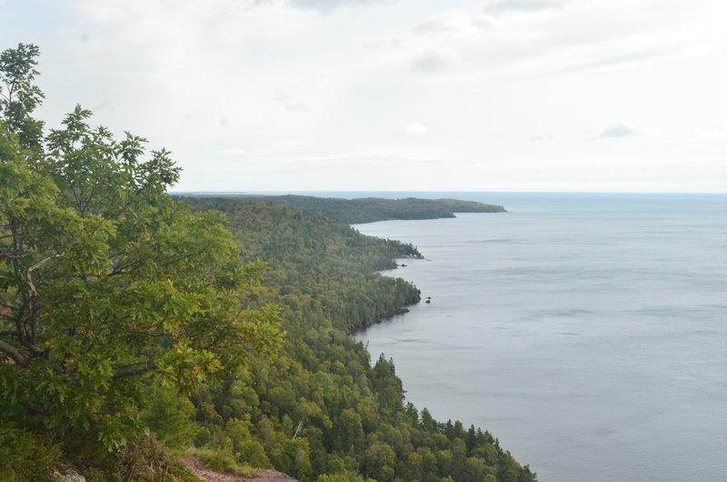 Lake Superior shoreline looking east.