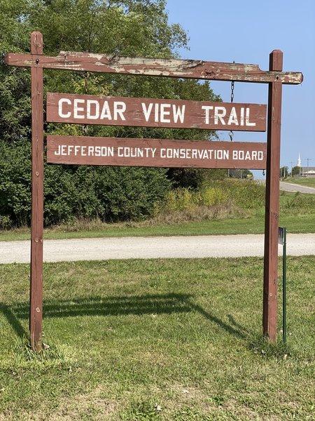 Cedar View trail sign