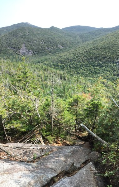 View of Grey Mtn, Mt Marcy peaking out behind Grey, and great views of Mt Skylight on your way up Cliff Mtn.