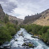 End of the trail at the Deschutes River