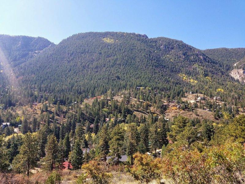 View overlooking Green Mountain Falls.