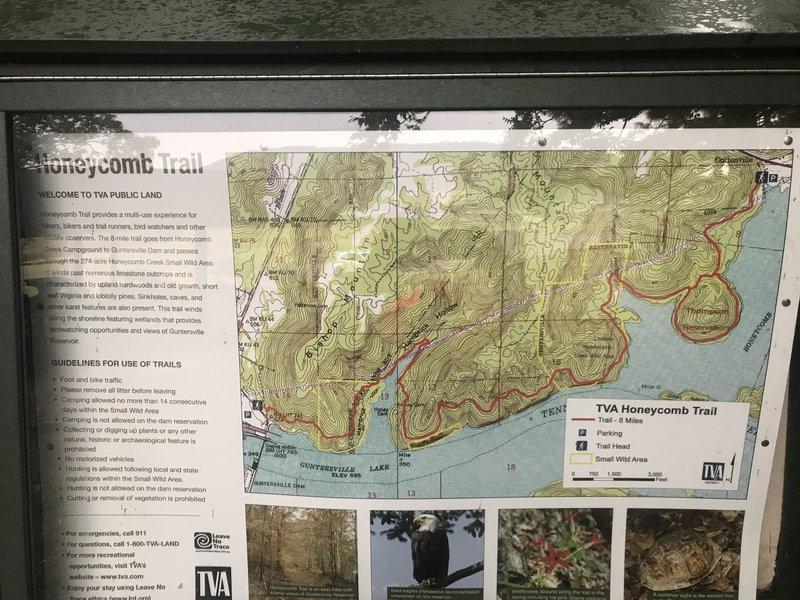 Map at dam side kiosk.