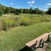 There are many nice park benches around the trail to rest and enjoy the scenery.