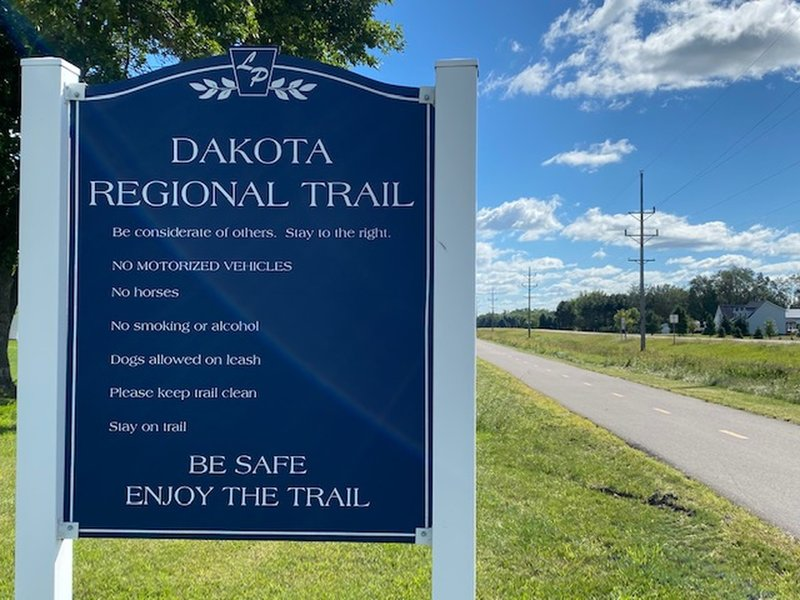 The Dakota Regional Trail is less than a quarter mile from the park entrance.