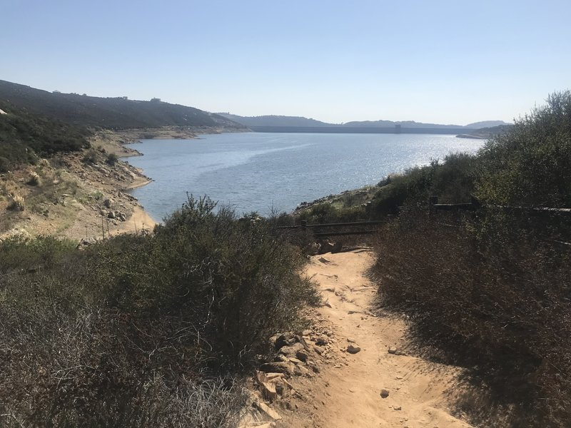 Lake Hodges Overlook Trail, view of reservoir