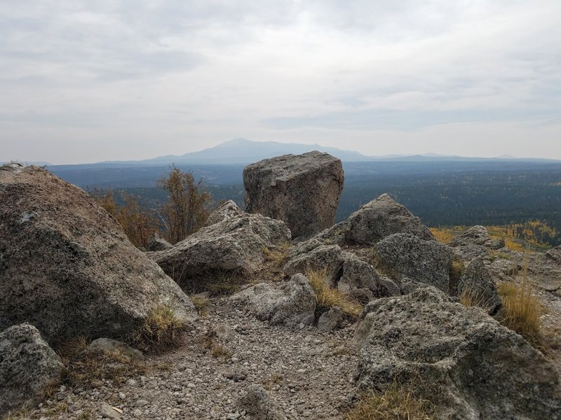 View of Pikes Peak from summit of Signal Butte